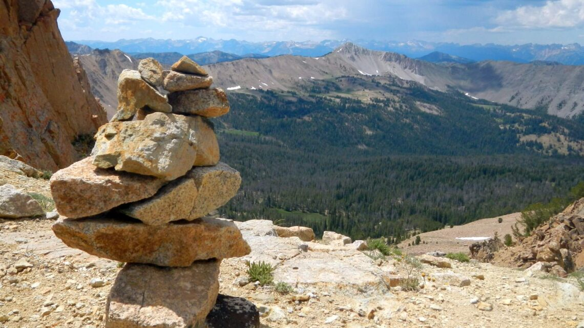 Idaho Cecil D. Andrus-White Clouds Wilderness Born Lakes pass Devil's Staircase